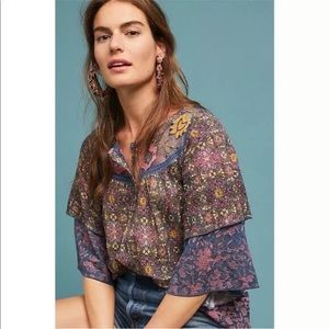Anthropologie Tops - Anthropologie Postmark Ciutadella Embroidered Top